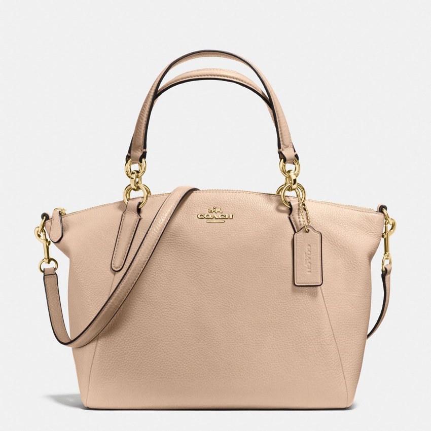 450d029a2ca91 Coach Small Kelsey Satchel In Pebble Leather (Beige) – My Blog