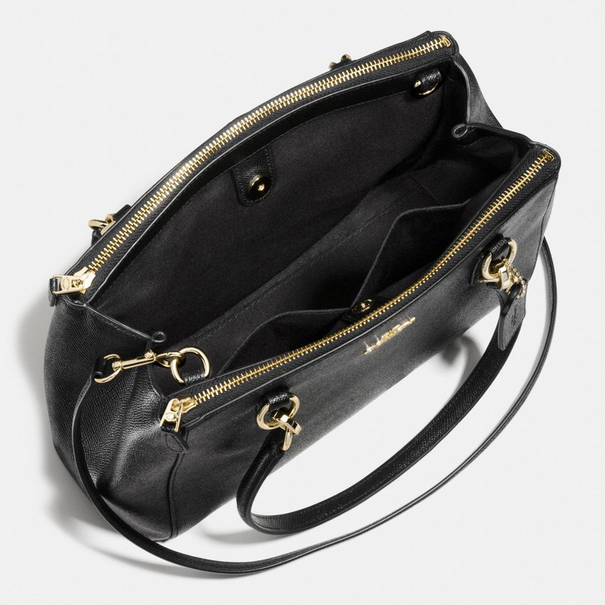 93670b7200cb4 Coach Small Christie Carryall In Crossgrain Leather (Black) – My Blog